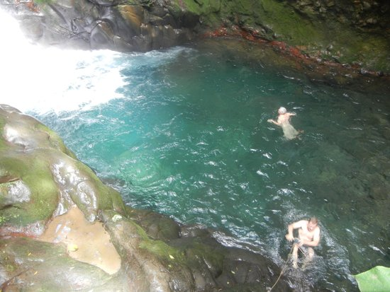 Tours Your Way: swimming at the bottom of the falls