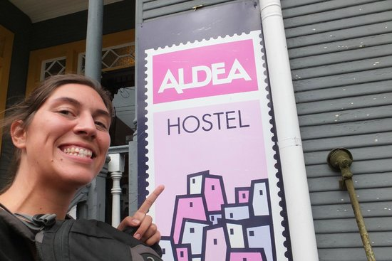 Aldea Hostel San Jose: hostel entrance