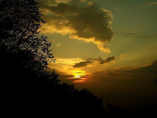 Montespertoli, Italia: tramonto dalla terrazza