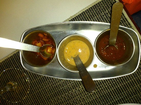 Indian House : Sauces, not very spicy