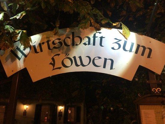 Gasthof Loewen: Sign