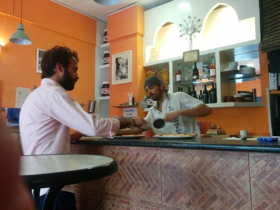 Pizzeria La Bambina: the owner's love of pizza making adds to the experience
