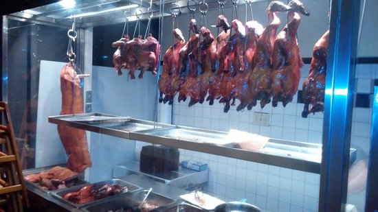 Din Ho Chinese BBQ: This is how I line up my ducks!