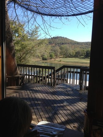 Jojo's Catfish Wharf: View of white river from our table