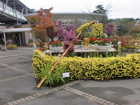 Tottori Hanakairo Flower Park: くまちゃんのふねです