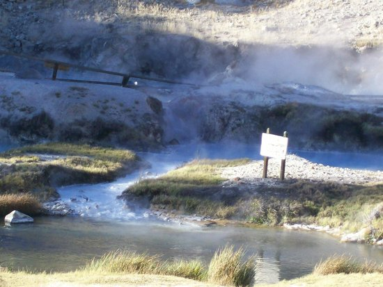 Steam from Hot Creek springs