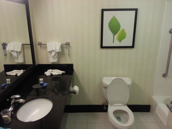 Fairfield Inn & Suites Plainville: Large bathroom