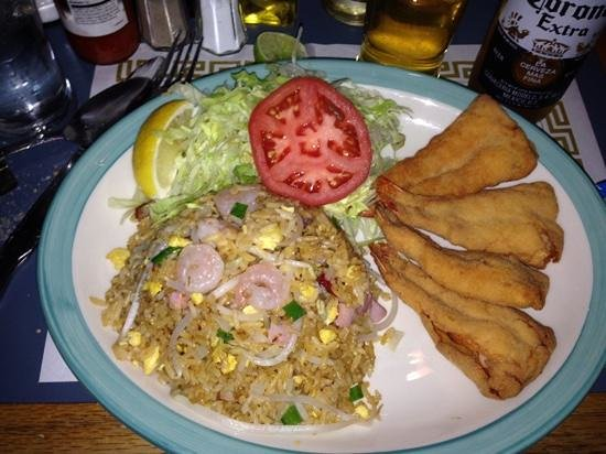 My Shrimp With Special Fried Rice Picture Of Flor De Mayo