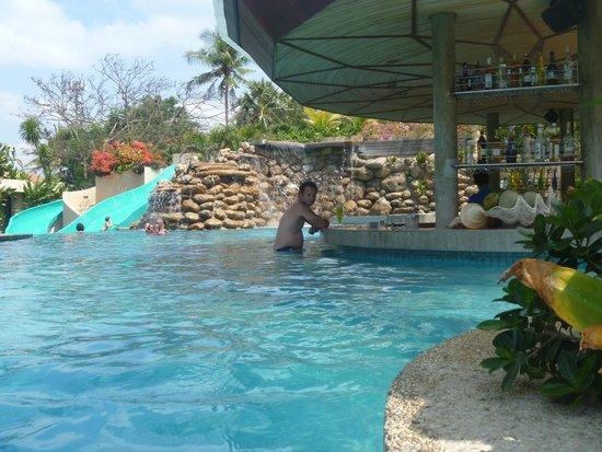 Bali Mandira Beach Resort Spa The Pool Bar And Slides In Background
