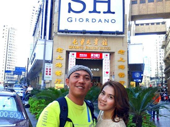 Seventh Heaven Hotel: gampang mencari lokasinya karena ada tulisan I love SH