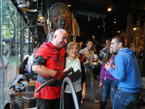 The First Lviv Grill Restaurant of Meat and Justice: Благодарные посетители и палач:)