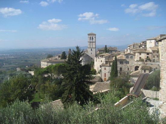 Hotel Ancajani: Assisi Richtung Hotel