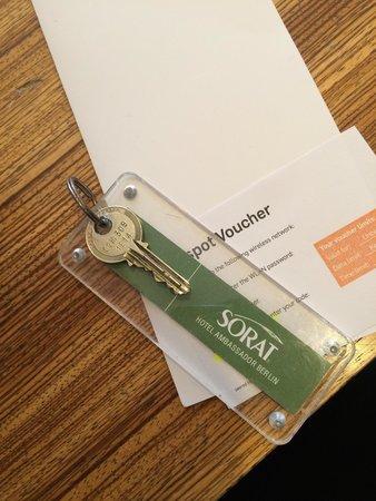 SORAT Hotel Ambassador Berlin: 门房钥匙,让人仿佛回到了二十世纪初