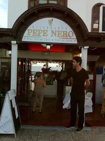 Pepenero : Neben sehr gutem italienischen Gerichten bietet das Restaurant Aussicht aufs Meer.