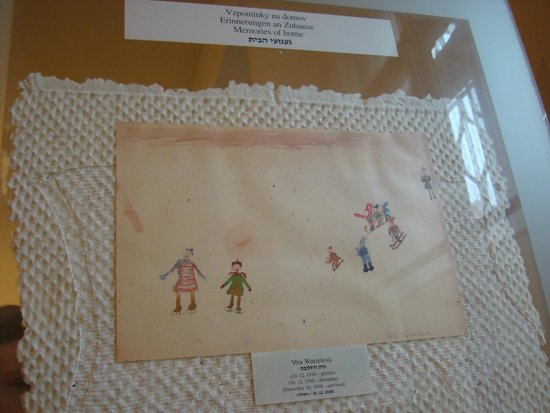 Muzeum Ghetta: One of the pictures the children were encouraged to draw to keep them 'happy'