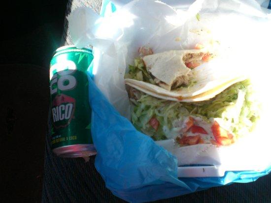 Sol Food: carnitas and a cocnut soda