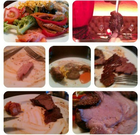 Fazenda Rodizio Bar & Grill: so yummy, I couldn't wait to snap the picture first
