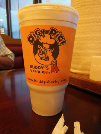 Buddy's bar-b-q: tea   The best part of the meal