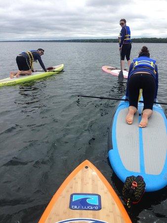 Barrie, Kanada: Some family SUP yoga!