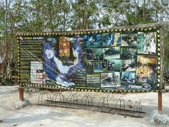 Fantasea Dive - Diving & Adventures : Dos Ojos Cenote Map