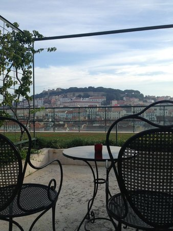 Hotel do Chiado: view from the terrace rooms