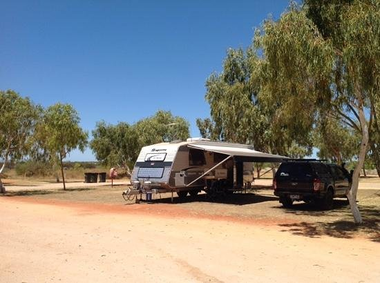 Exmouth Cape Holiday Park: Large grassed sites.