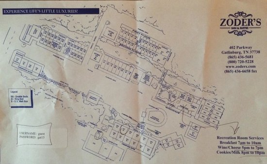Zoders Inn & Suites: Map of the Inn