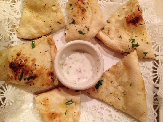 Garlic naan with raita picture of anokha richmond for Anokha cuisine of india