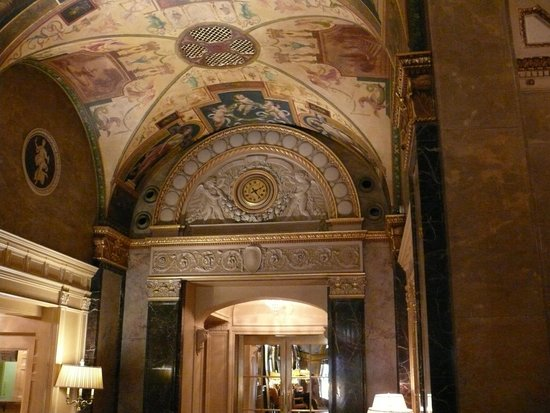 The Sherry-Netherland Hotel: Hotel lobby ceiling details