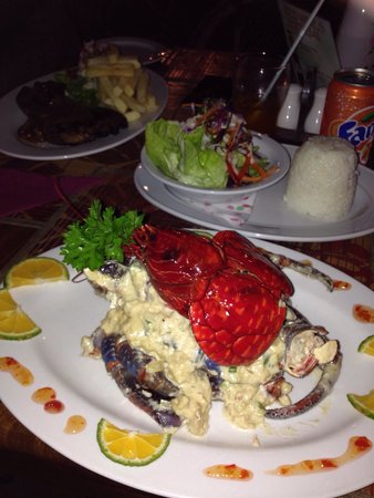 Flaming Bull Steak House: Coconut crab