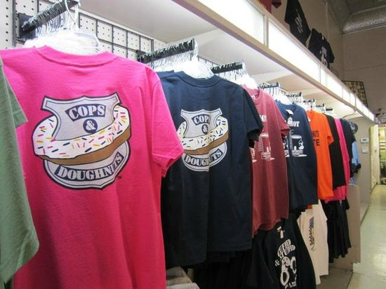 Cops & Doughnuts: Lots of cute things to buy in their side store...