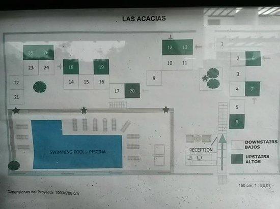Apartments Las Acacias: floormap