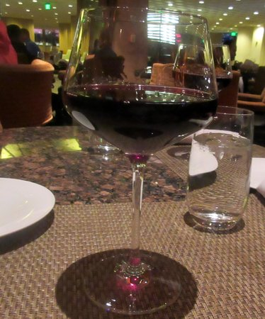 JUSTIN Vineyards and Winery : Justin Winery Cabernet Sauvignon - ( Enjoying a Glass at Bistro Napa Atlantis Casino)