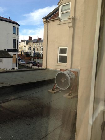 Windsor Hotel - Whitley Bay: View from room 38 - air con unit