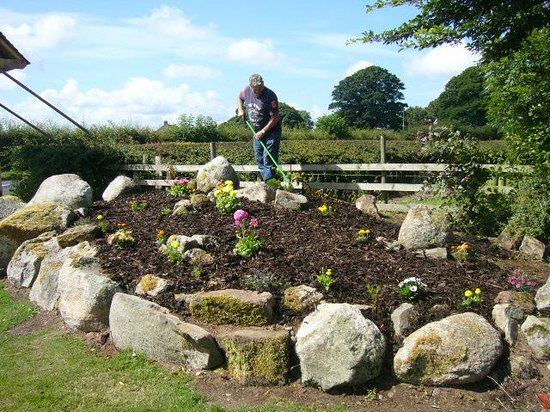 Wheyrigg Hall Hotel: New rockery in the making