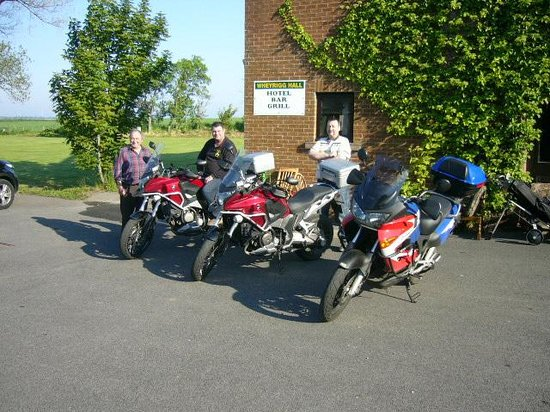 Wheyrigg Hall Hotel: Bikers staying at the hotel
