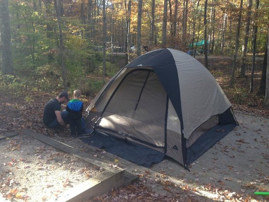 Pine Ridge, KY: our tent