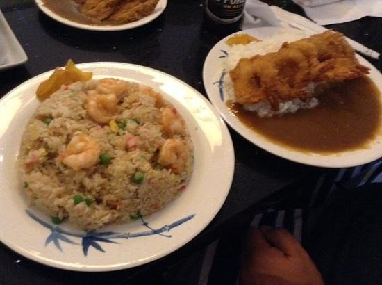 Shrimp fried rice n curry picture of kauai ramen eleele for Asian cuisine kauai