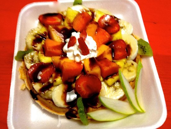 Bagel Shop: A very Healthy way to have a waffle