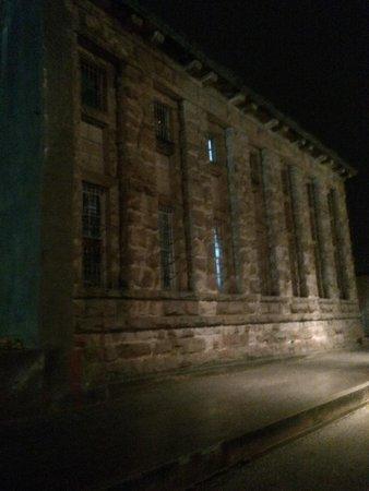 Old Idaho Penitentiary: Old Idaho Pen at night