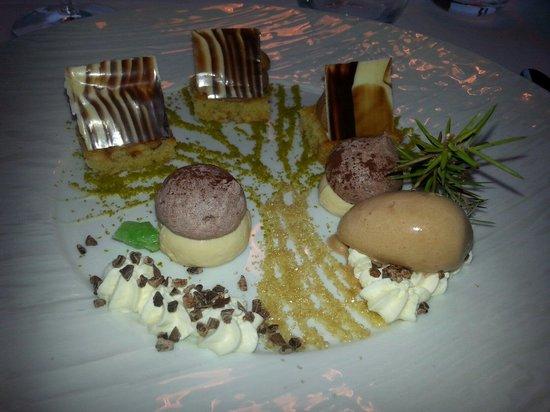 Restaurant Baie de Cayola : Dessert au chocolt menu dégustation