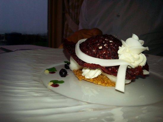 Restaurant Baie de Cayola : Dessert aux sorbets menu dégustation