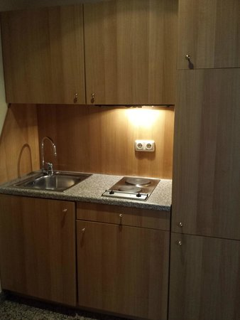 Eurotel am Main Hotel & Boardinghouse: The kitchen