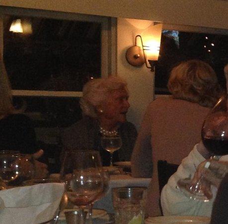 Hurricane Restaurant: Kennebunkport. Maine's Favorite Lady, Barbara Bush