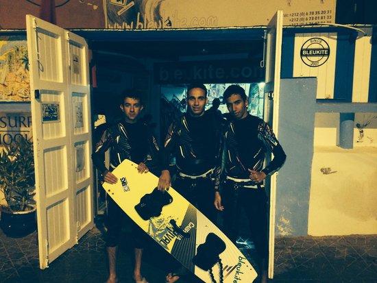 Un stage d kite surf de oooouuuf.  C'est a refaire biensur au bleukite essaouira