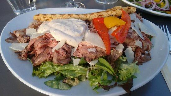 Guliano: Panini sandwich with beef