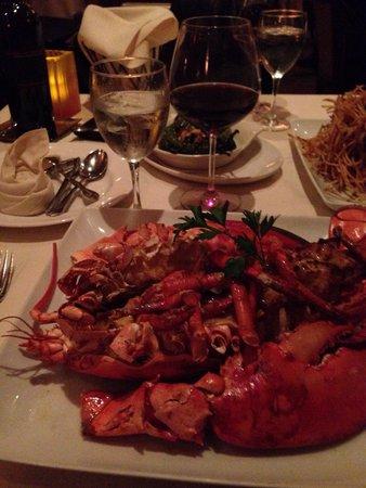 Water & Wine: Crabmeat stuffed lobster