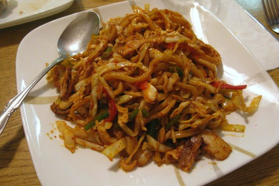 Pan Fried Noodles With Pork Belly Picture Of Frank S Noodle House