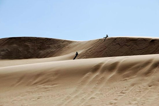 Al Fayyum Governorate, Egypt: Sand boarding in Wadi Rayan National Park