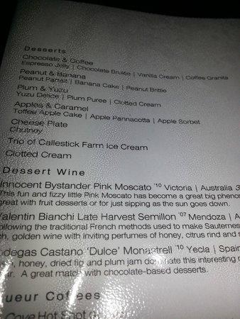 Cove Restaurant & Bar: Desserts